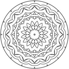 236x236 Symmetry Coloring Page Free Download