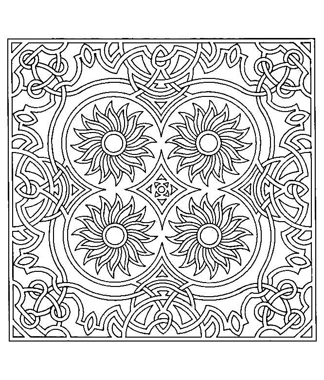 666x780 Symmetrical Coloring Pages