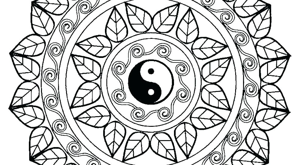 960x544 Coloring Pages Mandala Advanced Mandala Coloring Pages Pdf
