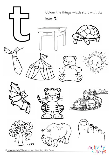 460x650 Start With The Letter T Colouring Page