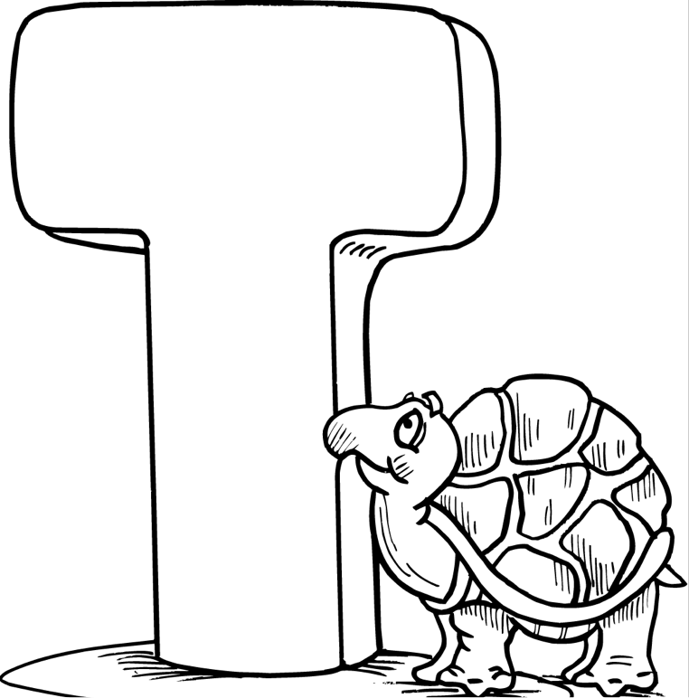762x772 T Coloring Page Coloring Book