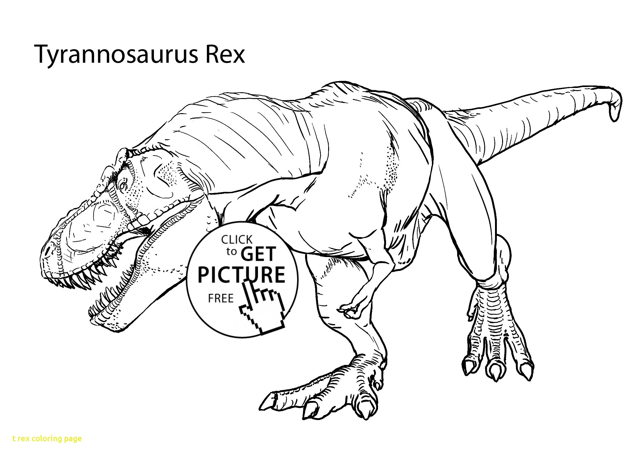 2079x1483 Realistic T Rex Coloring Pages Free For Kids Simple Acpra