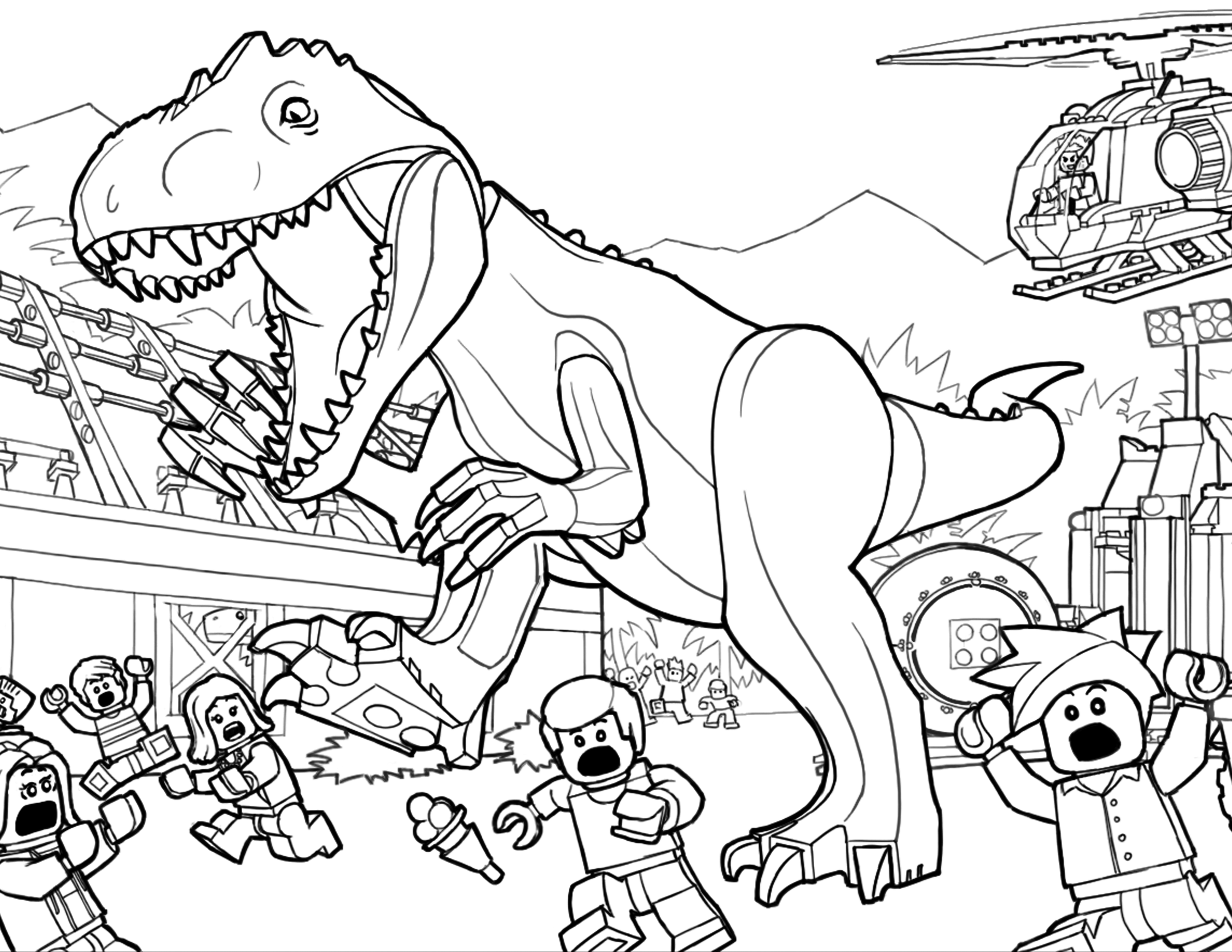 3300x2550 Trex Coloring Pages