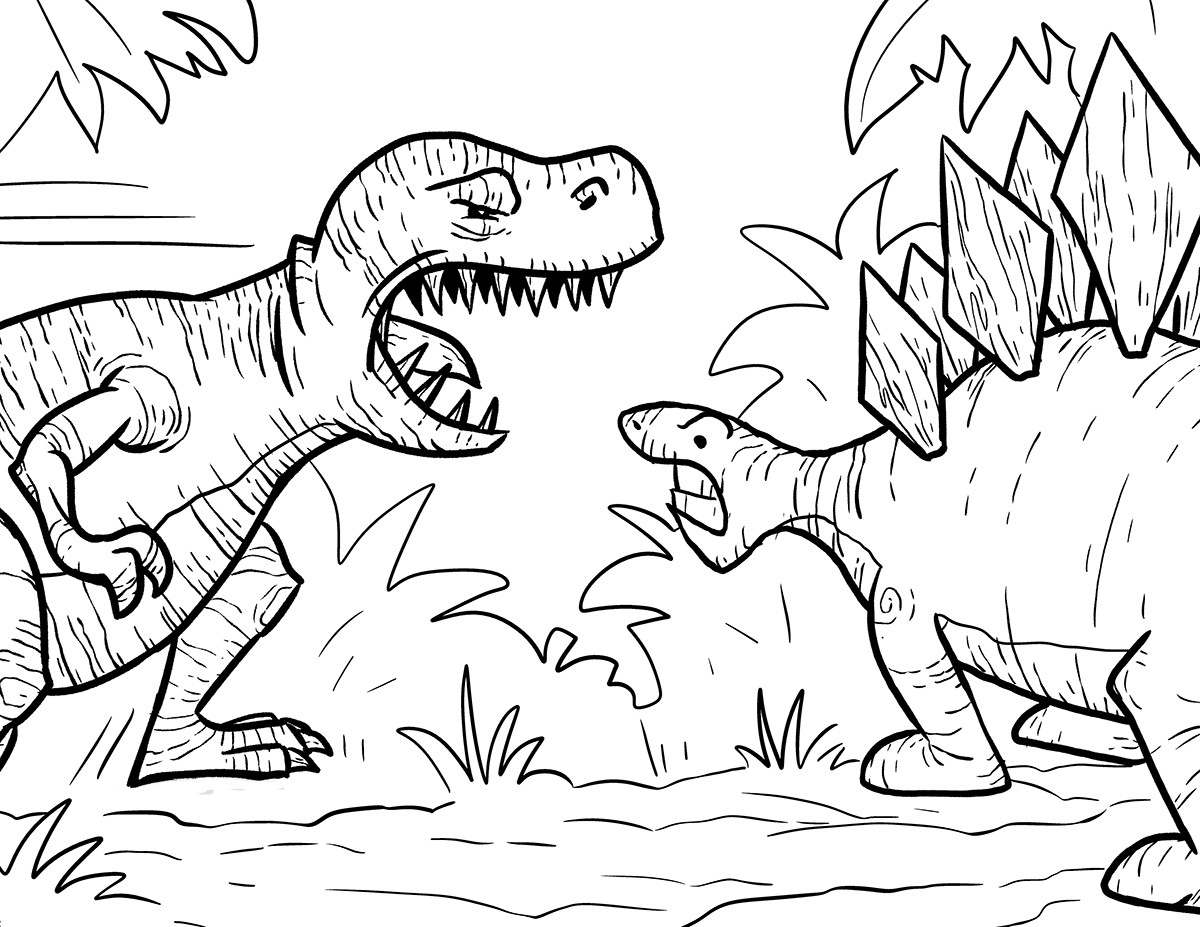 1200x927 Trex Coloring Pages Best For Kids Incredible T Rex Acpra