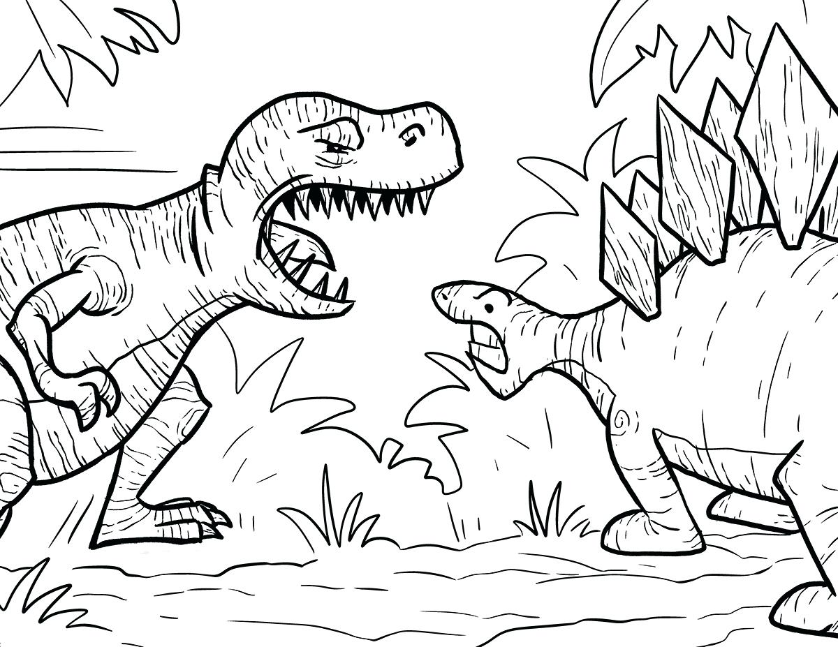 1200x927 Free T Rex Dinosaur Coloring Pages Facts Page Color Good Printable