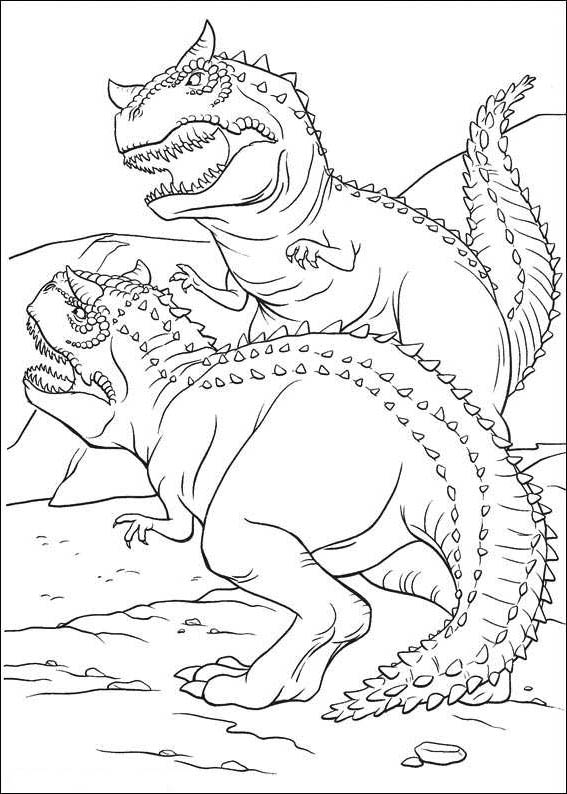 567x794 Scary Dinosaur Coloring Pages