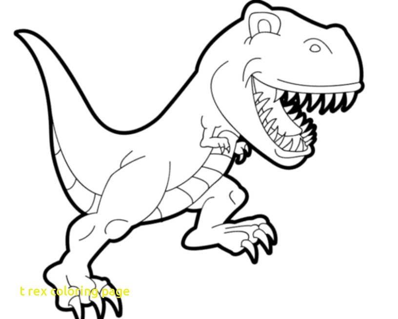 816x653 T Rex Coloring Page With Print Download Dinosaur T Rex Coloring