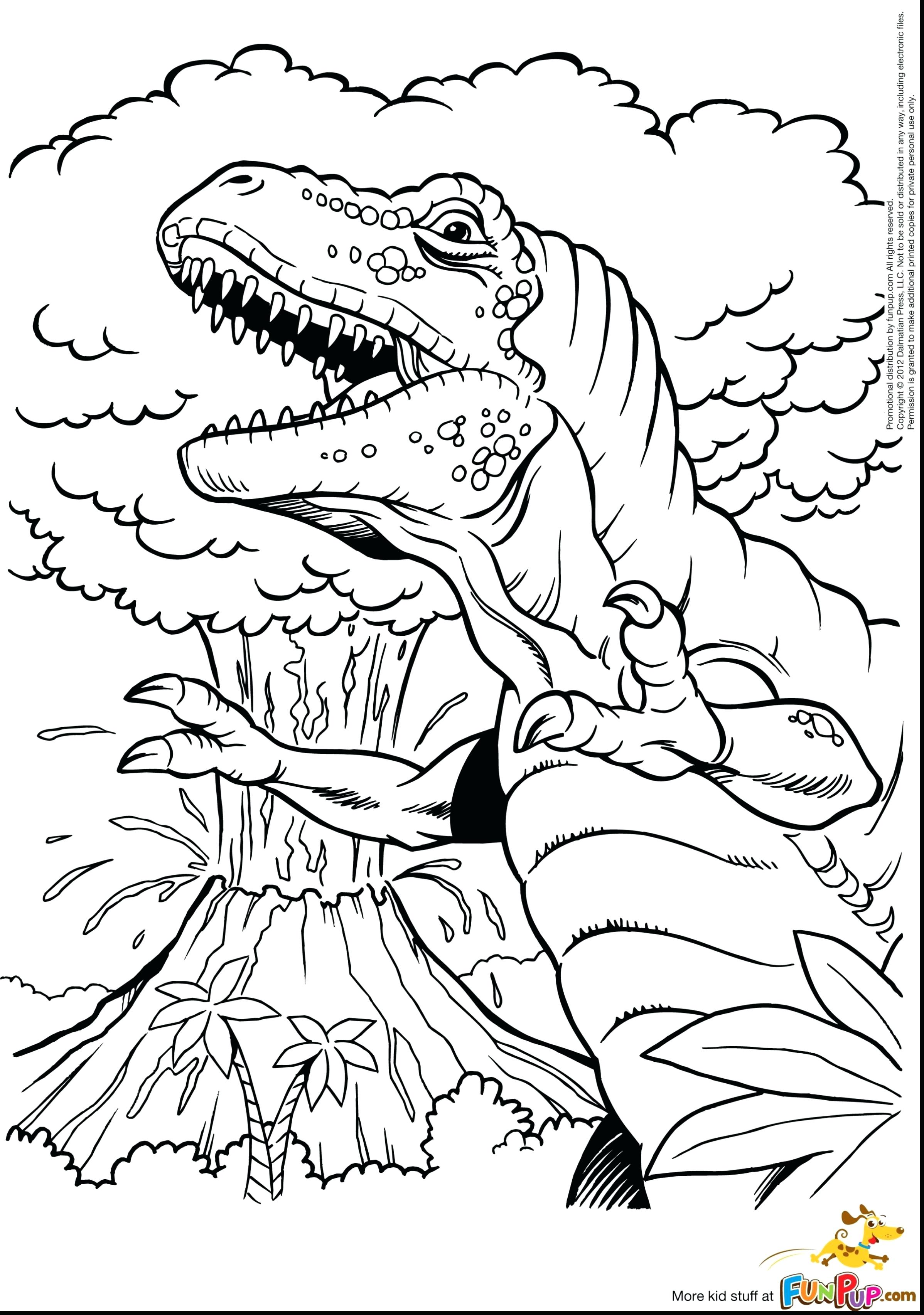 2396x3411 T Rex Coloring Sheets Beautiful Volcano Pages Printable With Page