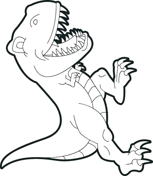 606x700 T Rex Dinosaur Coloring Pages T Coloring Page For Kids Dinosaur