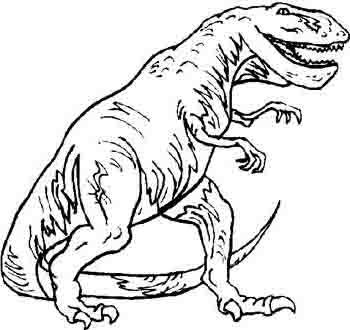350x330 T Rex Dinosaur Coloring Pages Printable Large