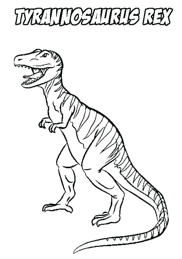 600x853 Coloring Pages Tyrannosaurus Coloring Page Download Dinosaur