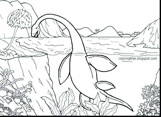T Rex Printable Coloring Pages