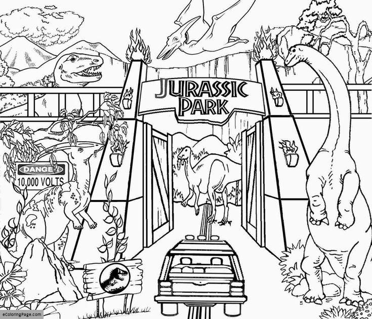 735x630 Jurassic World Coloring Page Printable