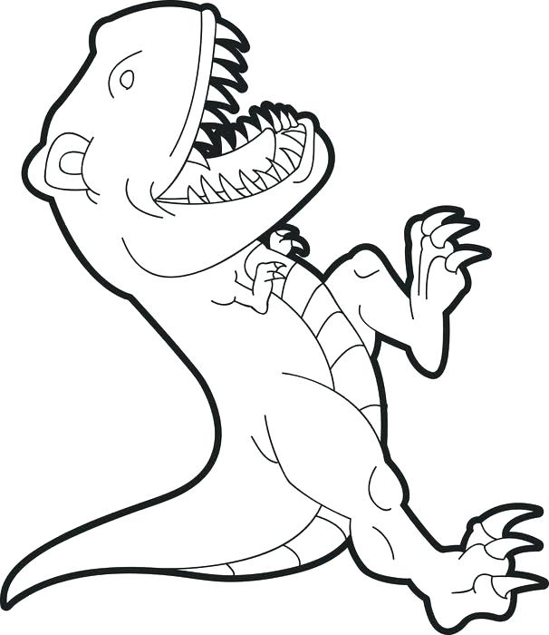 606x700 Tyrannosaurus Rex Coloring Page Coloring Pages Coloring Pages T