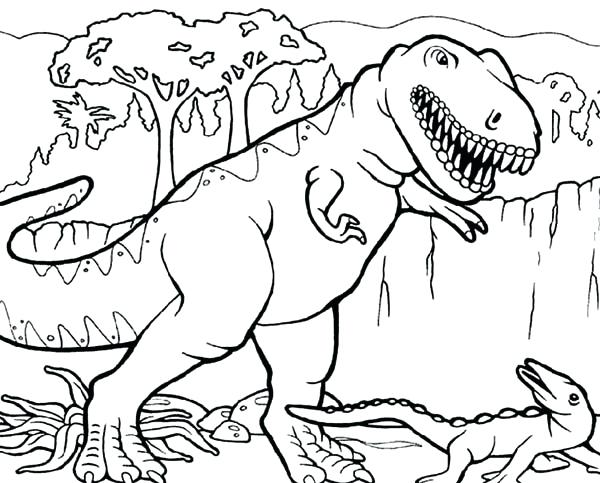 600x483 Tyrannosaurus Rex Coloring Page T Coloring Pages Online Animal