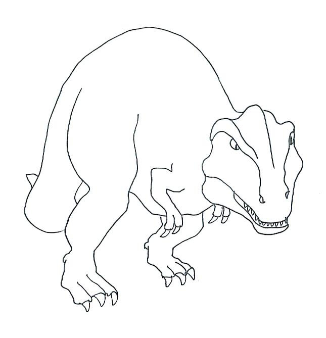 645x669 Dinosaur Coloring Pages Tyrannosaurus Printable Coloring Page T