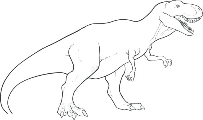 687x409 Trex Coloring Page Medium Size Of Coloring To Draw Saur Drawn Cute
