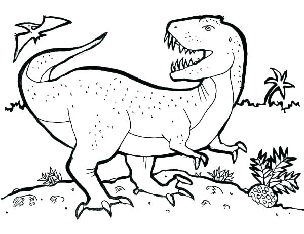600x462 Trex Coloring Pages Coloring Sheets T Coloring Page For Kids