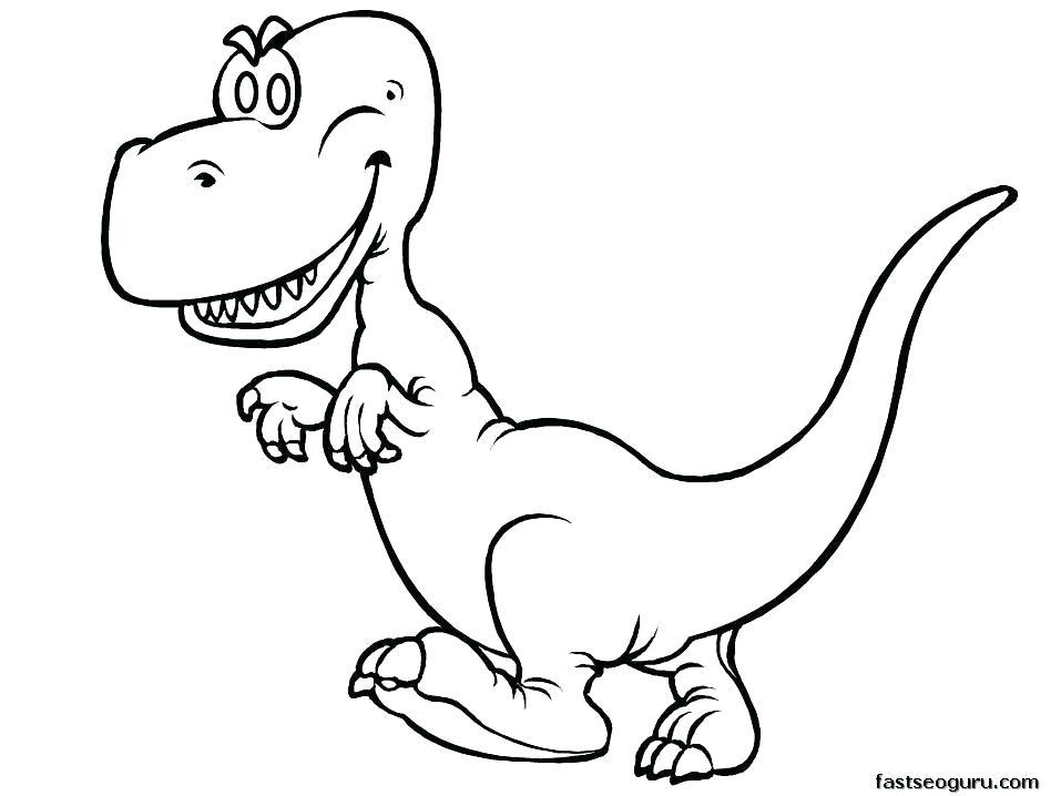 957x718 Tyrannosaurus Rex Coloring Page Tyrannosaurus T Rex Printable