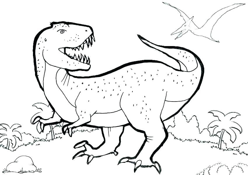 850x600 Cute T Rex Coloring Pages Printable Coloring Dinosaur Pictures