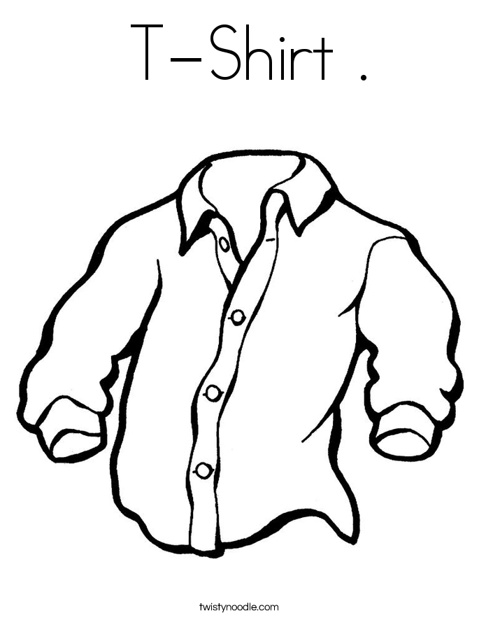 685x886 T Shirt Coloring Page