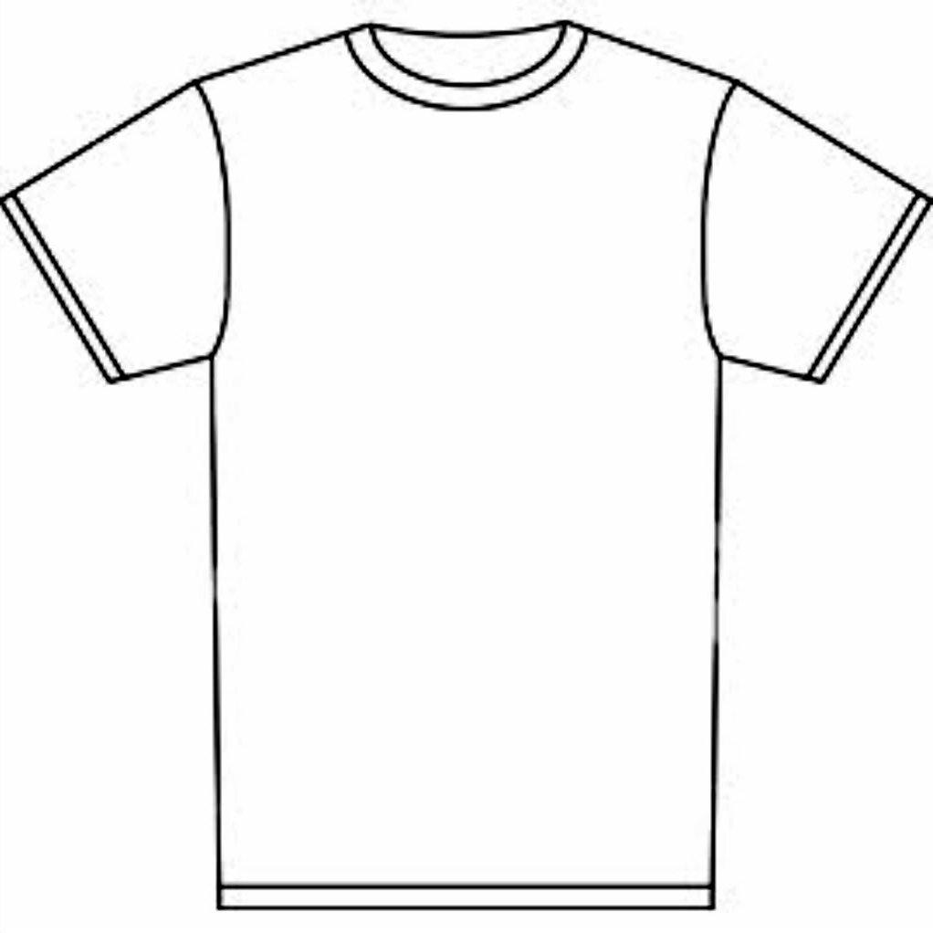 1022x1022 T Shirt Coloring Page Tshirt Free Printable