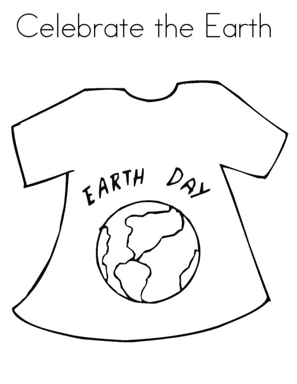 600x776 T Shirt Coloring Pages Coloring Page Coloring Page Earth Day