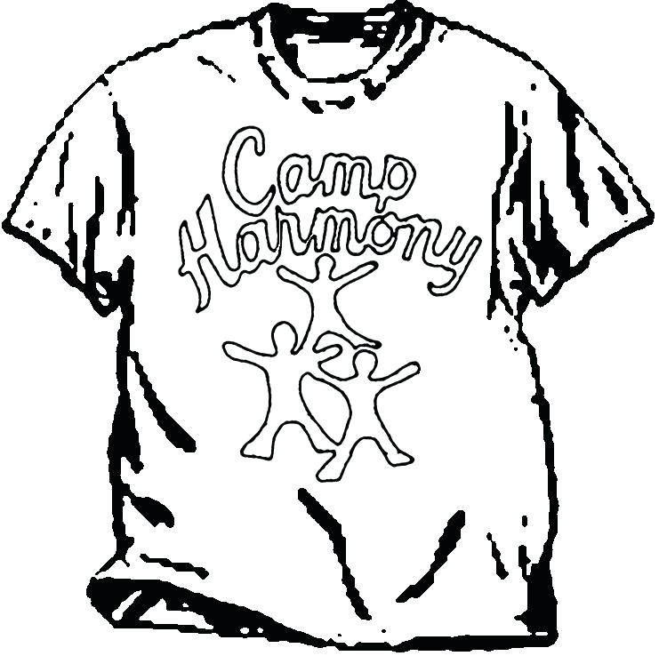 741x738 Tshirt Coloring Page T Shirt Coloring Pages T Shirt Coloring Page