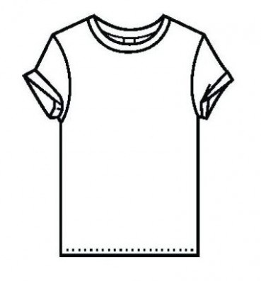 369x397 Coloring Page T Shirt