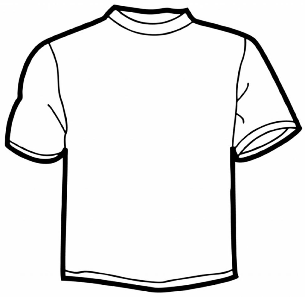 974x948 Coloring Pages Elegant T Shirt Page For Best