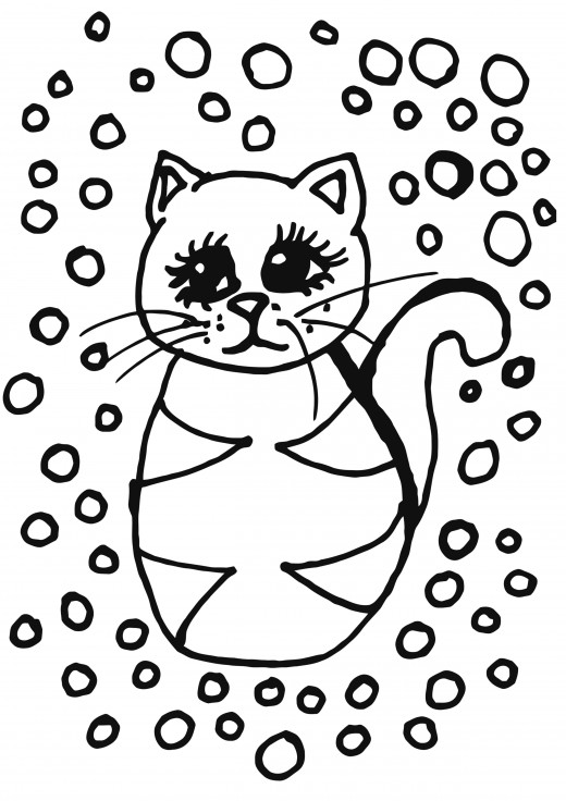 Tabby Cat Coloring Pages