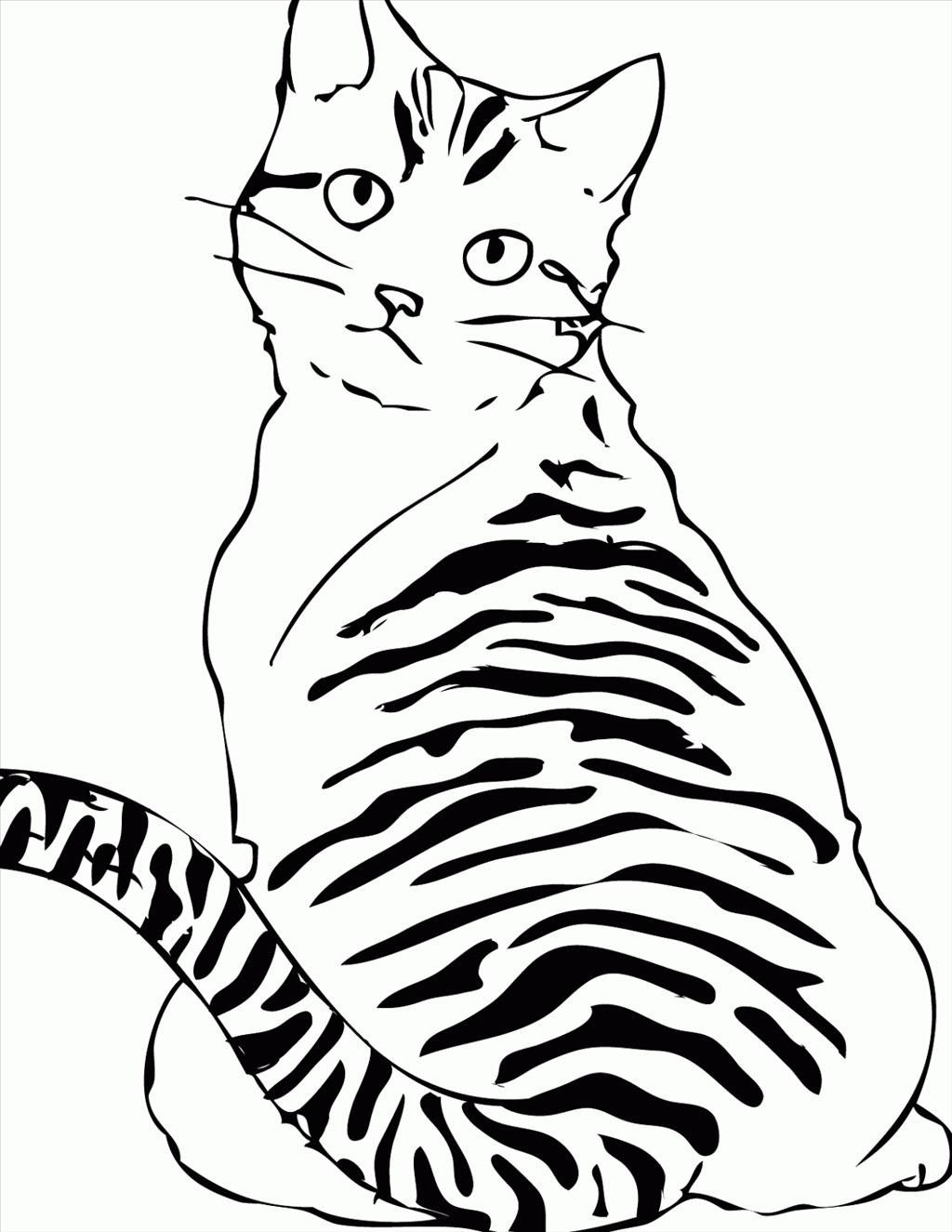 1024x1325 Striped Cat Coloring Pages