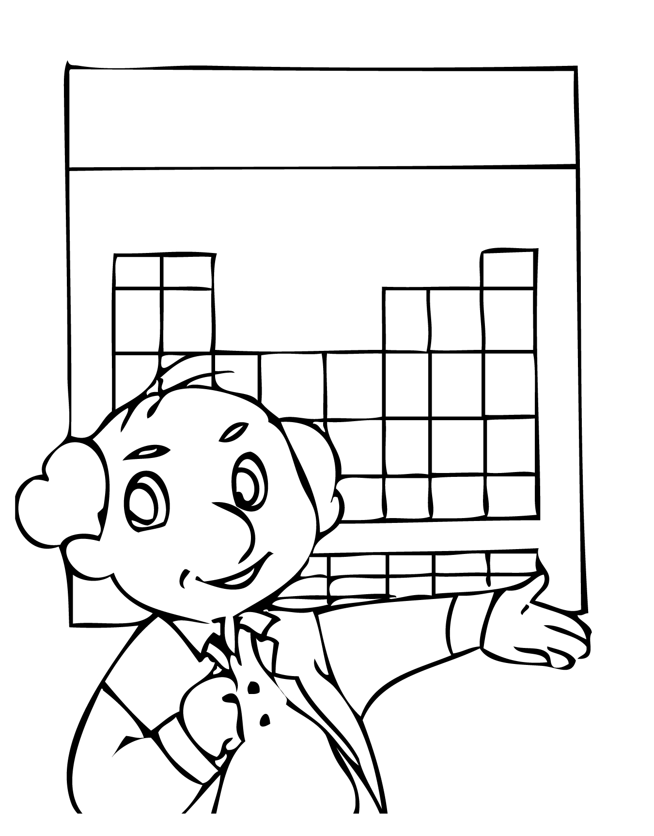 1350x1725 Periodic Table Coloring Page