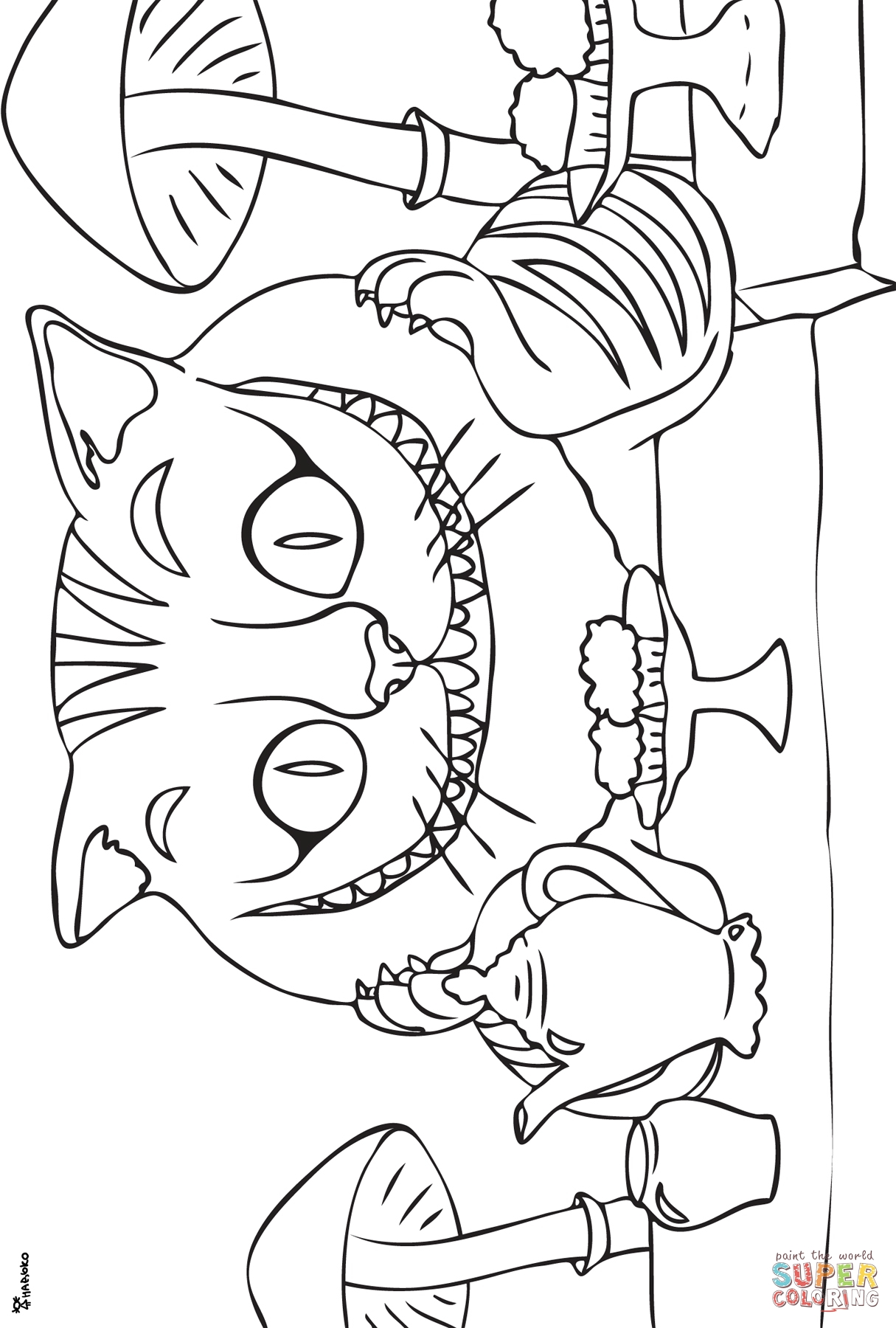 1215x1800 Cheshire Cat Coloring Page Free Printable Coloring Pages Sweet