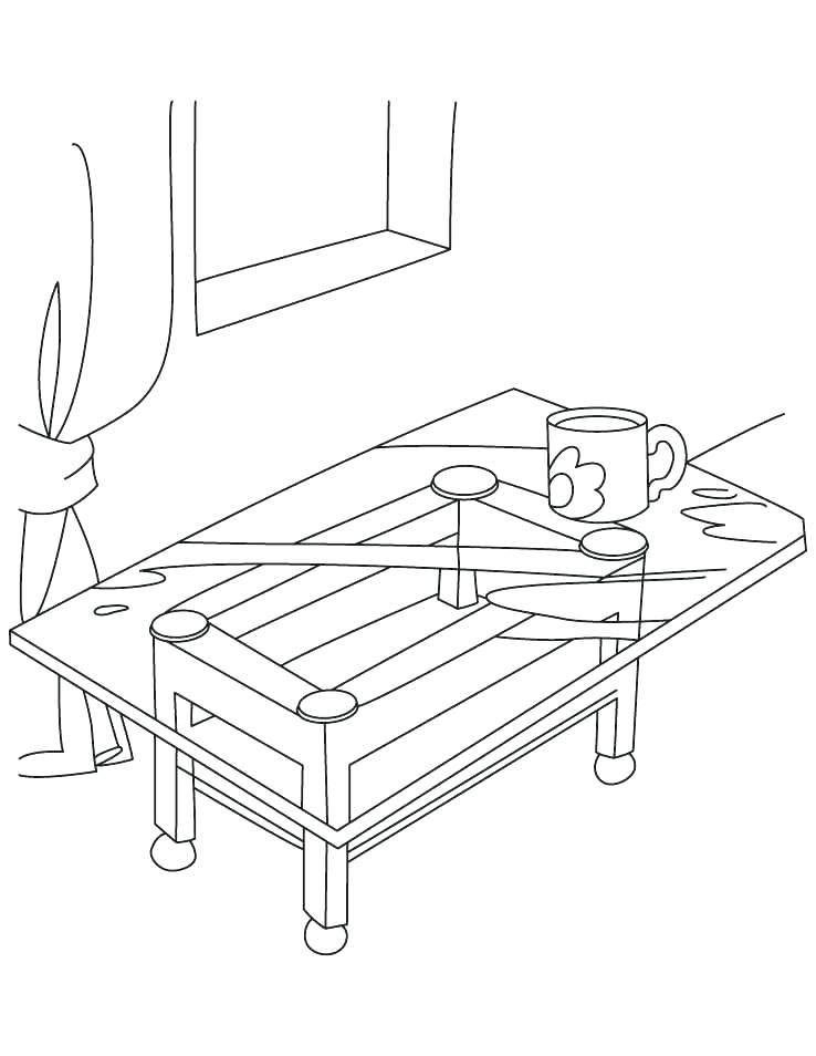 738x954 Table For Coloring T Is For Table Coloring Page Thanksgiving Table