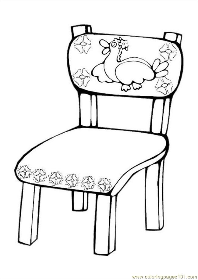 650x918 Table And Chairs Coloring Page