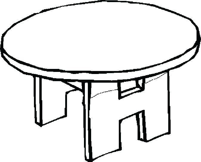 675x543 Coffee Table Coloring Page