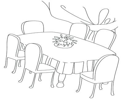 400x322 Coloring Table Drawn Table Coloring Page Coloring Tablecloth