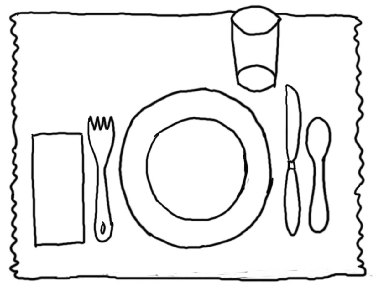 1200x913 Good Table Manners Clipart Black And White