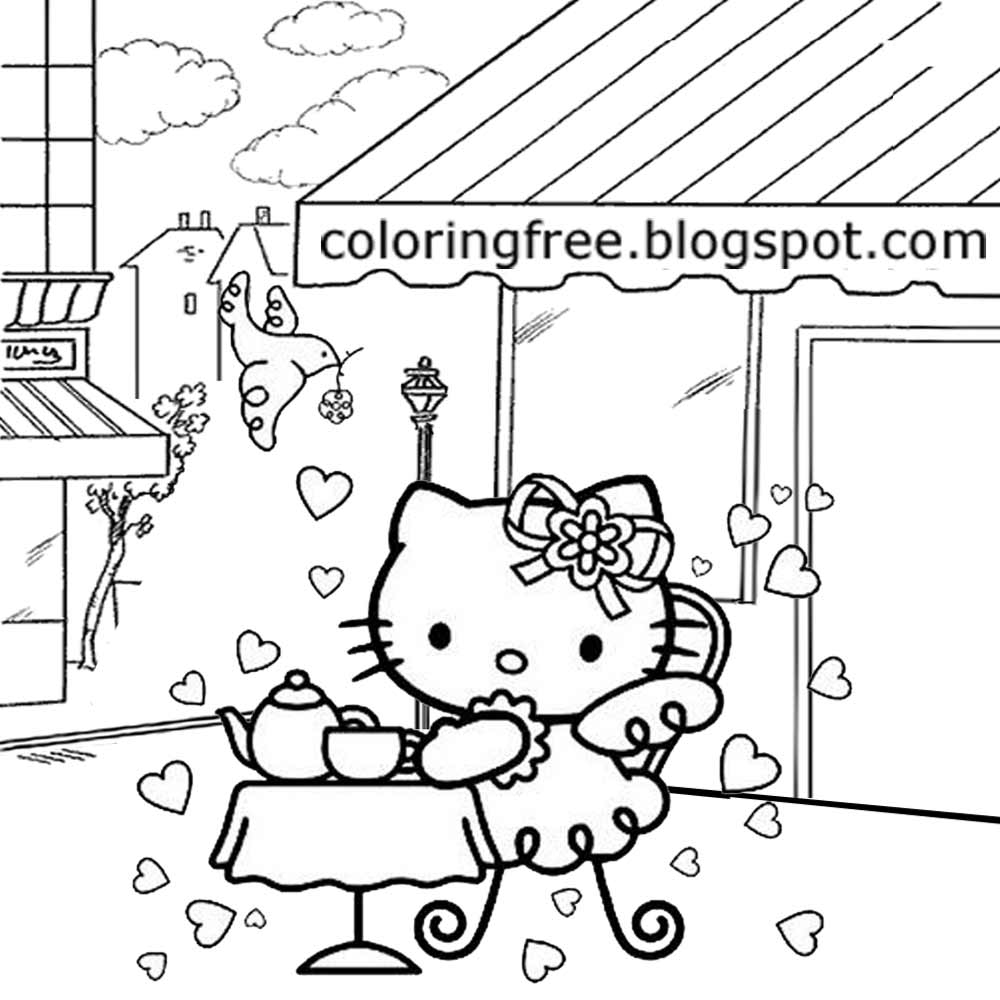 1000x1000 Lets Coloring Book Hello Kitty Coloring Sheets Free Cute