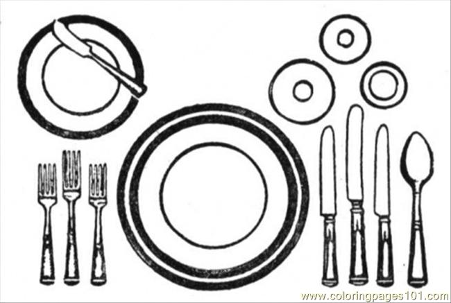650x437 Table Appointments Coloring Page