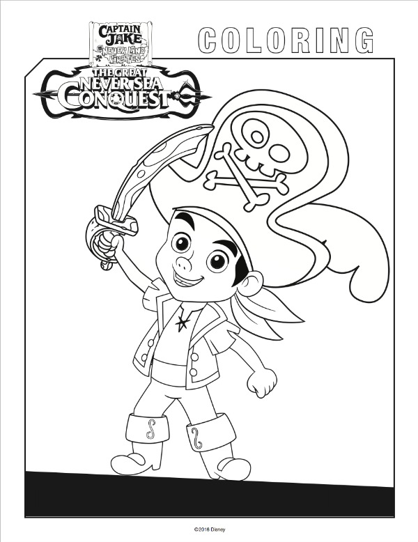 600x778 Yo Ho! Let's Go! Jake And The Never Land Pirates Free Coloring