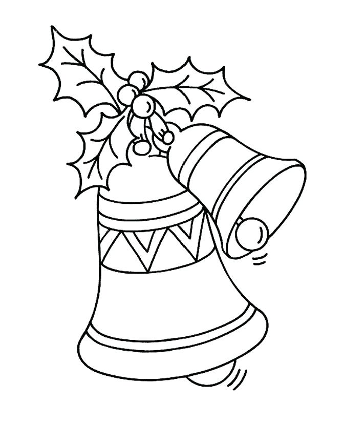 670x820 Bells Coloring Pages Bell Coloring Pencil And In Color Bell