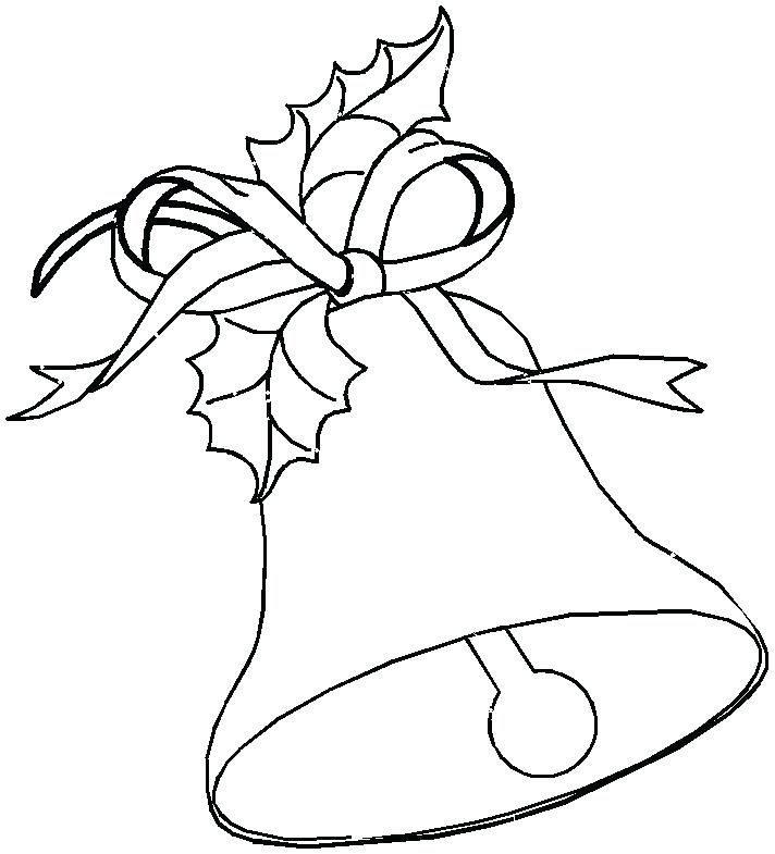 712x785 Good Bell Coloring Pages Printable For Pictures Jingle Bell
