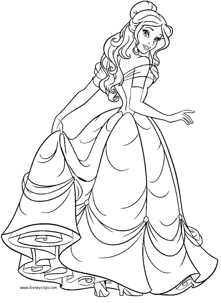 736x1008 Bell Coloring Page Belle Coloring Pages Beauty And The Beast Free