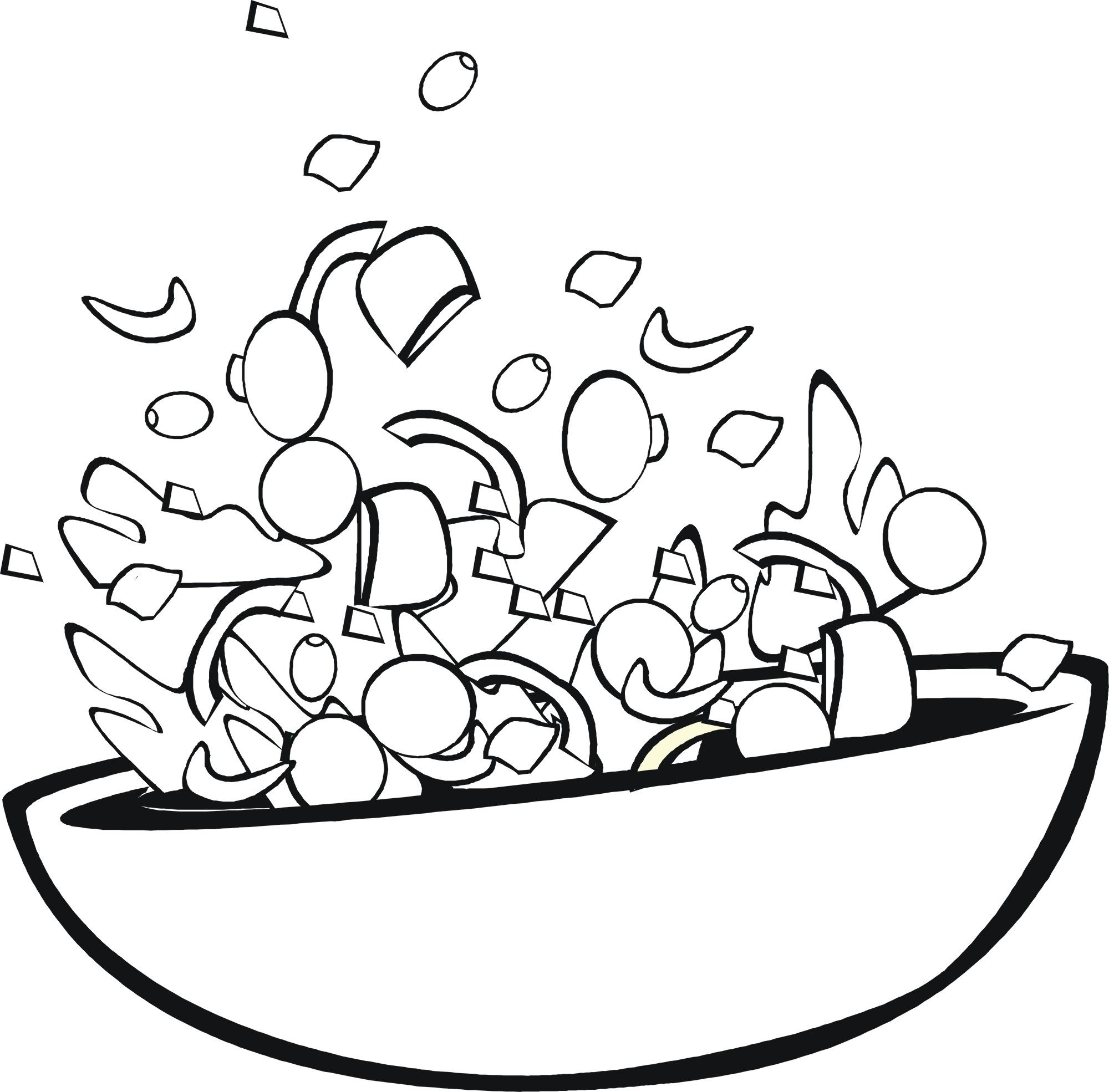 2000x1970 Food Coloring Pages Children's Best Activities