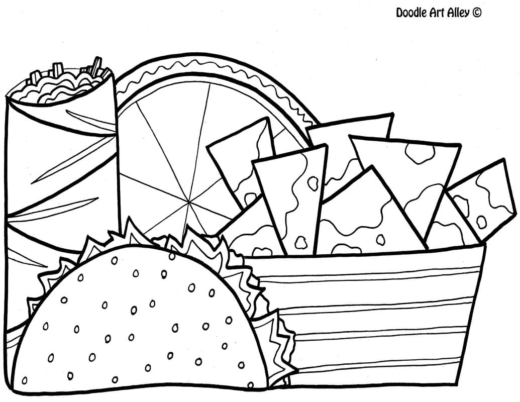 1035x800 Food Coloring Pages