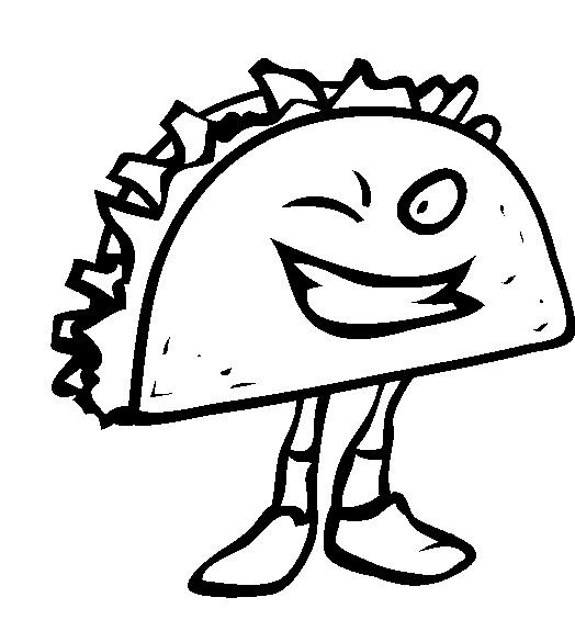 524x565 Junk Food Taco Coloring Pages Coloring Junk Food