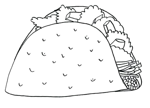600x432 Mexican Food Coloring Pages