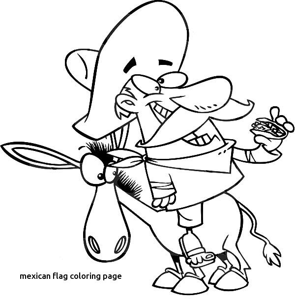 600x612 Mexican Man Eating A Taco On A Mexican Donkey Coloring Pages